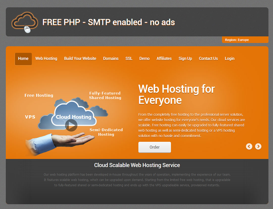 free php mysql hosting no ads